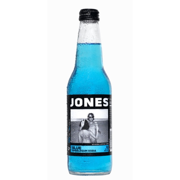 Jones Blue Bubblegum Pure Cane Soda (12 Pack)