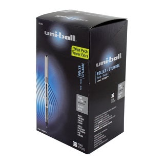 Uni-Ball Vision Stick Fine Point Rollerball Pens, Black Ink - Pack of 36 (1921066)