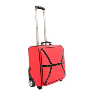 Mellow World Daffodil Red 17-inch Carry-on Upright Laptop Suitcase