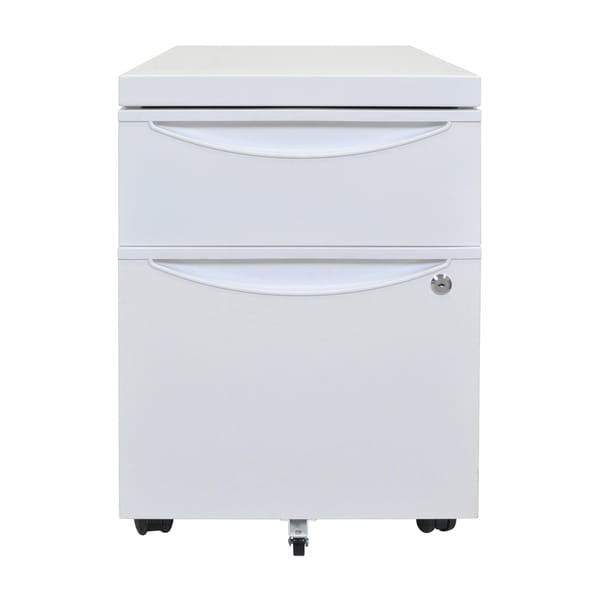 Luxor Mobile Pedestal File Cabinet with Locking Drawer