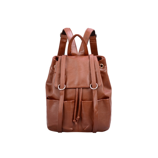 Mellow World Sarah Brown Flapover Drawstring Backpack