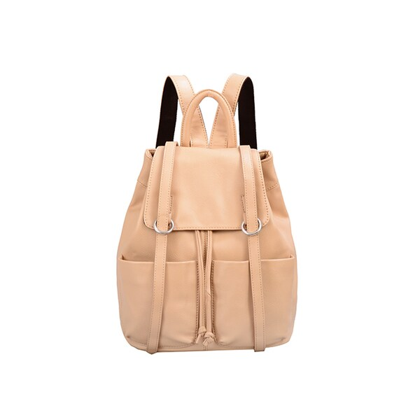 Mellow World Sarah Khaki Flapover Drawstring Backpack