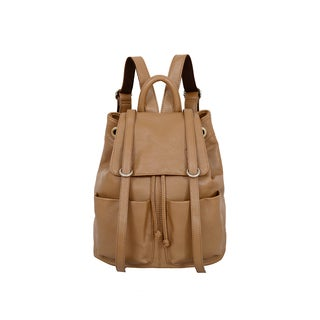 Mellow World Sarah Latte Flapover Drawstring Backpack