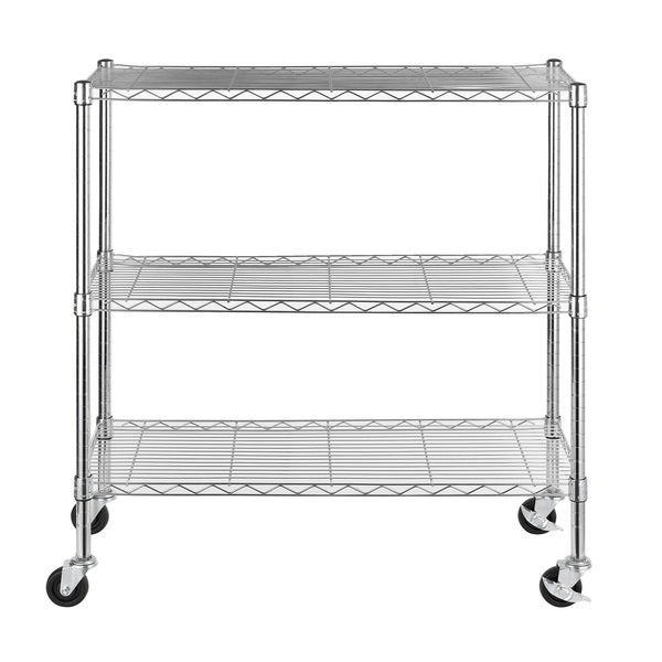 Excel 36-inch 3-tier Multi-purpose Chrome Wire Shelving
