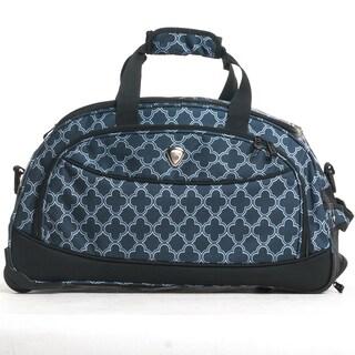 CalPak 'Plato' Geo Gate 21-inch Carry-On Rolling Upright Duffel Bag Blue