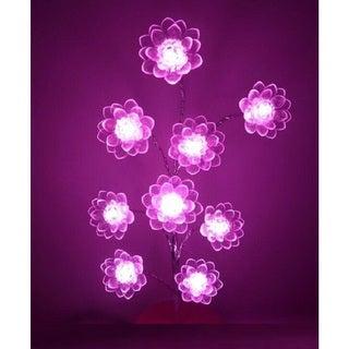 LED Light Lotus Flower Bonsai Tree