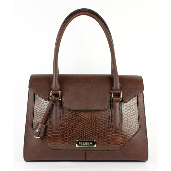 Avery Color-block Snakeskin Satchel Purse