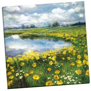 Portfolio Canvas Decor 'Yellow Poppy Vista' Gallery Wrapped Canvas by Sandy Doonan