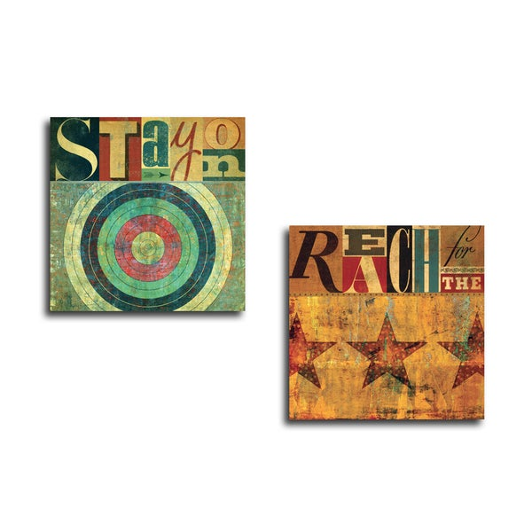 Portfolio Canvas Decor 'Reach For The Stars' Gallery Wrapped Canvas by Stella Bradley (Set of 2)