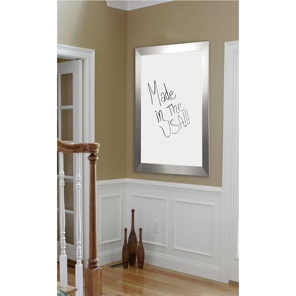 American Made Rayne Silver Wide Whiteboard