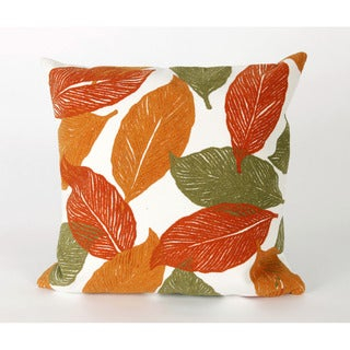 Cut Leaves 20-inch Throw Pillow
