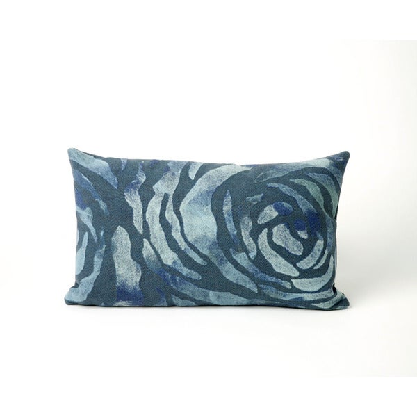 "Dyed Roses Throw Pillow (12"" x 20"")"