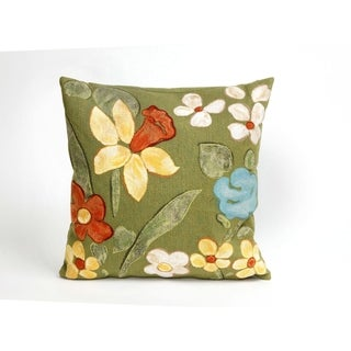 Watercolor Flowers 20-inch Throw Pillow