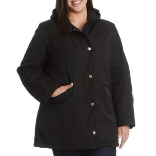 Nuage Women's Plus Size Thermal Insulated, Body Heat Retention, Ventex Washable Jacket