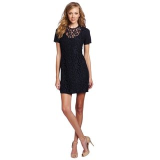 French Connection Lovely Lorine Navy Blue Lace Mini Dress