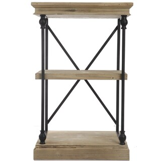Kathy Ireland 32-inch Wood/ Metal Low Etagere