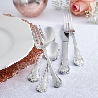 RiverRidge 46-piece Personalized Bouquet Pattern Flatware