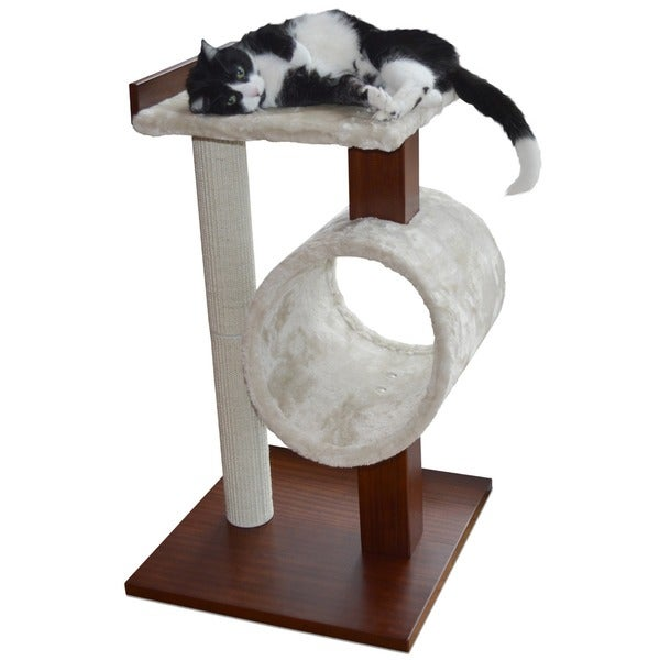 PetFusion Modern Cat Activity Tree Scratching Post