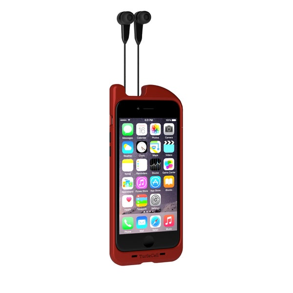 TurtleCell Retractable Headphone Case for iPhone 6