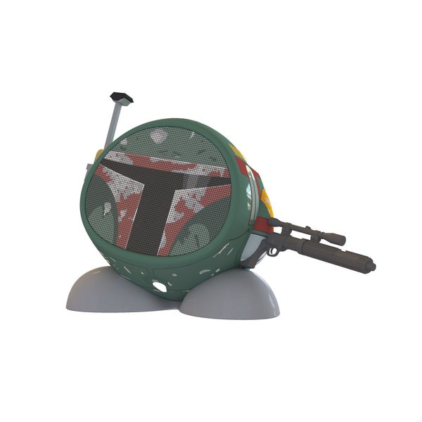 Kid Designs Boba Fett Bluetooth Speaker Green Red Black