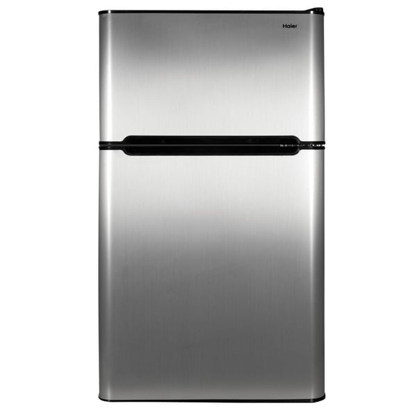 Haier 3.2CF SS Two-door Refrigerator Freezer
