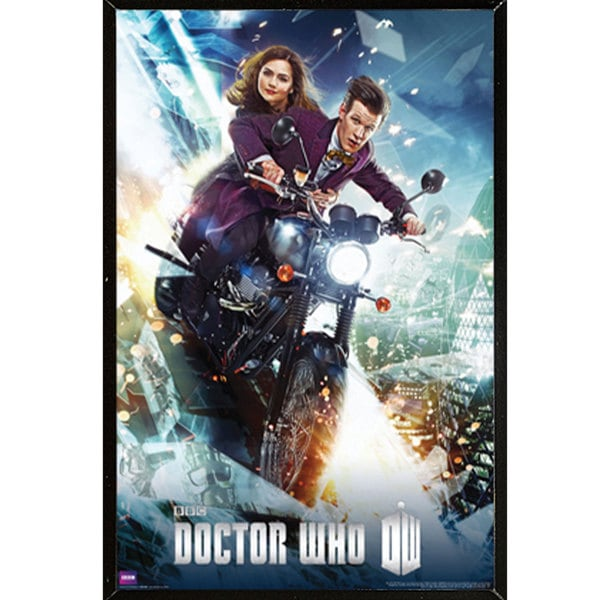 Doctor Who - Bike Print (24-inch x 36-inch) on a Plaque/ Woodmount
