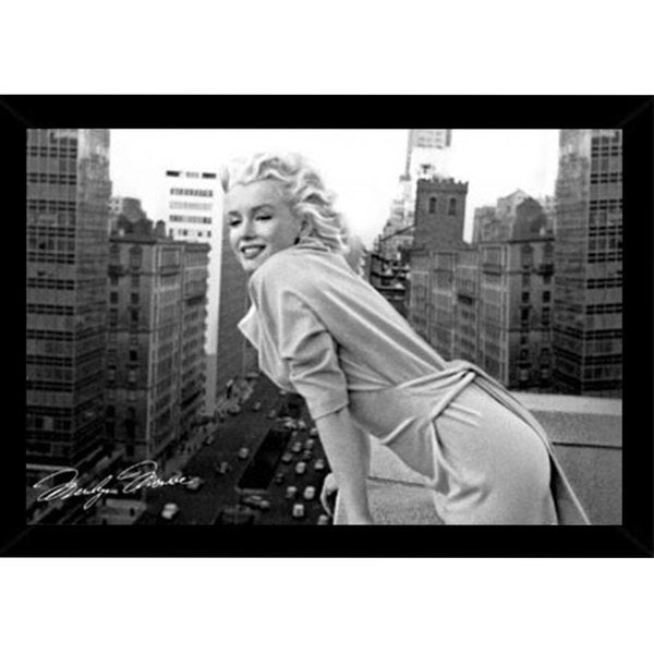 Marilyn Monroe - Balcony Print (36-inch x 24-inch) with Contemporary Poster Frame