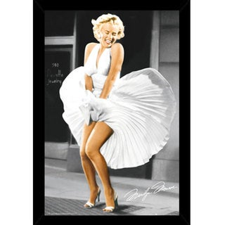 Marilyn Monroe - Seven Year Itch Print (24-inch x 36-inch) with Contemporary Poster Frame