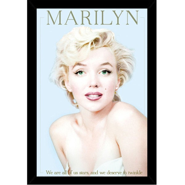 Marilyn Monroe - We Are All Stars Print (24-inch x 36-inch) with Contemporary Poster Frame