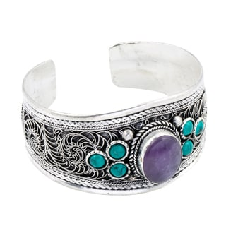 Silver Plated Bracelet with Turquoise (Nepal)