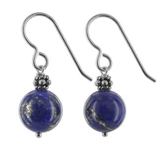 Ashanti Lapis Lazuli Gemstone Sterling Silver Handmade Earrings