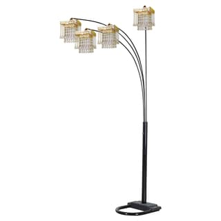 Journee Home 'Opulence' 84 inch Faux Crystal Arch Floor Lamp