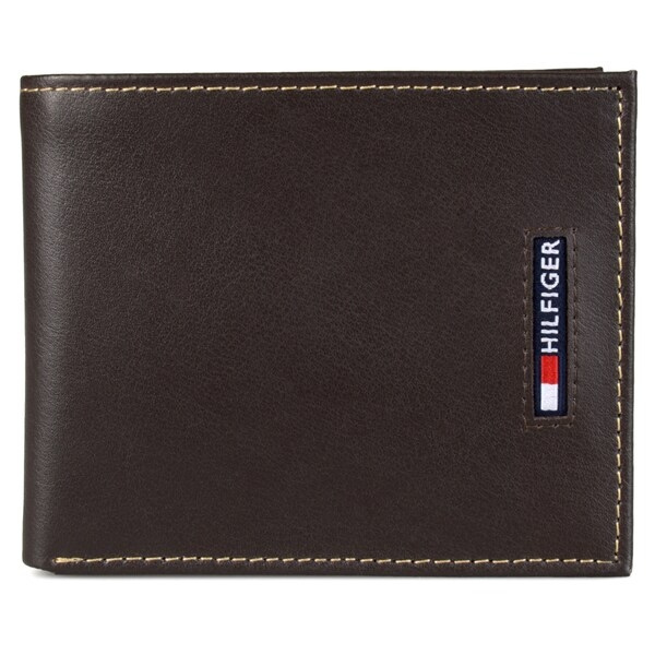 Tommy Hilfiger Men's Genuine Leather Passcase Bifold Wallet