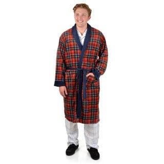 Chaps Men's Plaid Microfleece Robe