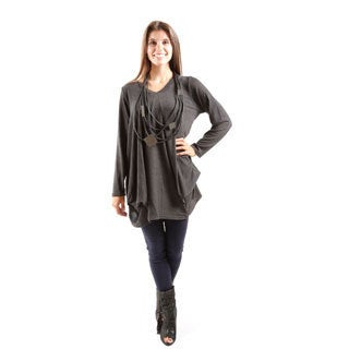 Hadari Women's Long Sleeve V-Neck Sweater Top