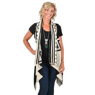 Journee Collection Junior's Print Knit Vest