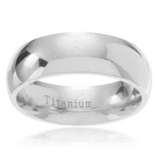 Territory Men's Titanium Domed Classic Wedding Band (7mm)