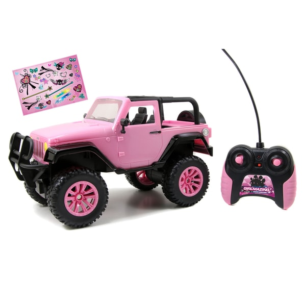 Jada Toys GirlMazing 1/16 Scale RC Pink Jeep