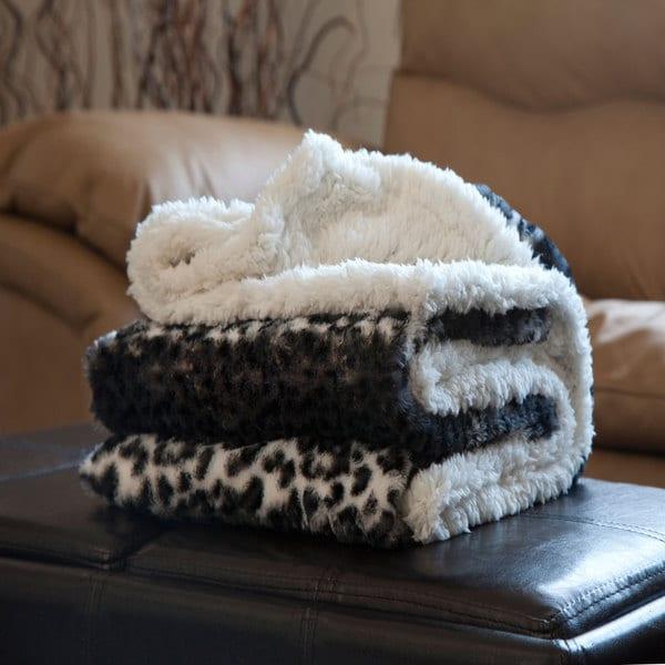 WindsorHome Fleece/Sherpa Throw Blanket
