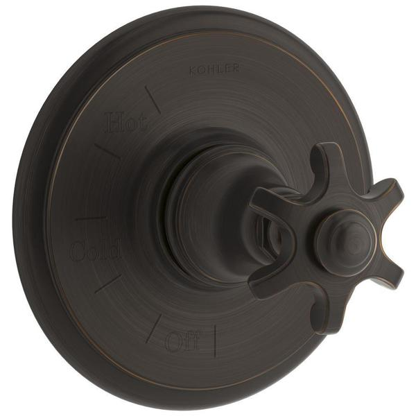 Kohler Artifacts Prong 1-Handle Rite-Temp Pressure Balancing Valve Trim Kit in Oil-Rubbed Bronze (Valve Not Included)