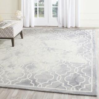 Safavieh Handmade Dip Dye Grey/ Ivory Wool Rug (7' x 7' Square)