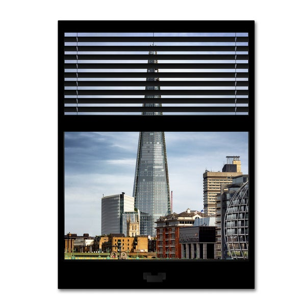 Philippe Hugonnard 'Window View The Shard' 24x32 Canvas Wall Art