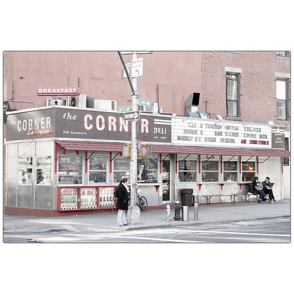 Yale Gurney 'The Corner Deli' 18x24 Canvas Wall Art