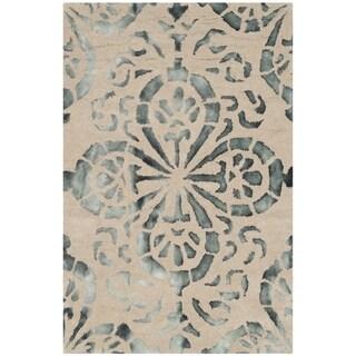 Safavieh Hand-Tufted Dip Dye Camel/ Grey Wool Rug (2' x 3')