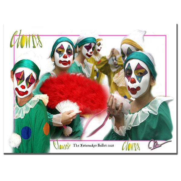 Martha Guerra 'Clowns' 18x24 Canvas Wall Art