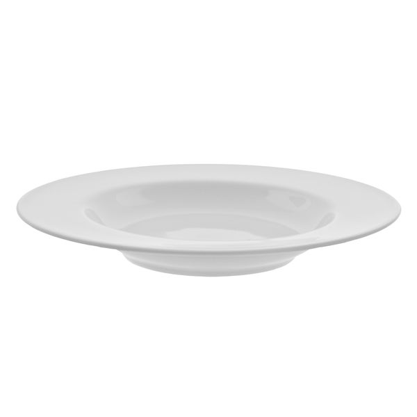 "Royal White Rim Soup 12"" Set of 6"