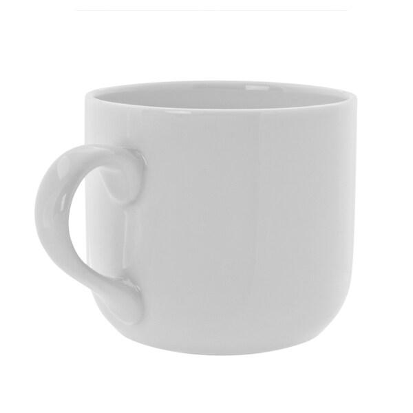 Royal White Round Latte Mug Set of 6