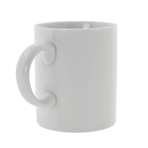 Royal White C-Handle Mug Set of 6