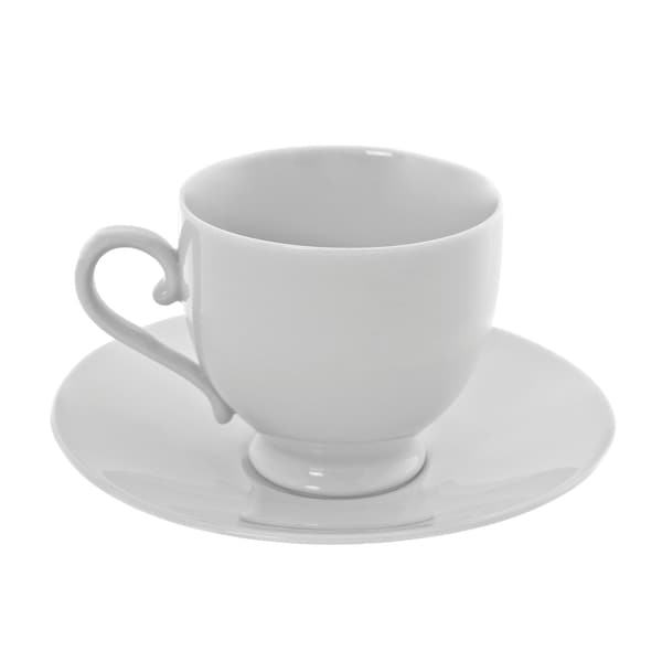 10 Strawberry Street Royal White Sophia Cup/Saucer Set of 6 16357895