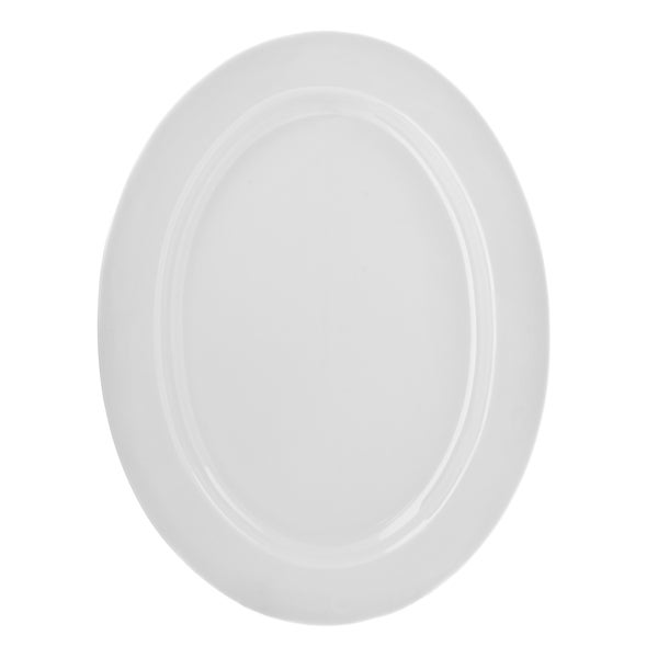 10 Strawberry Street Royal White Oval Platter 16357902